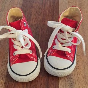 CONVERSE toddler Red High Tops